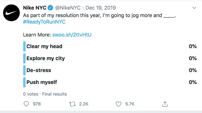Nike NYC polling