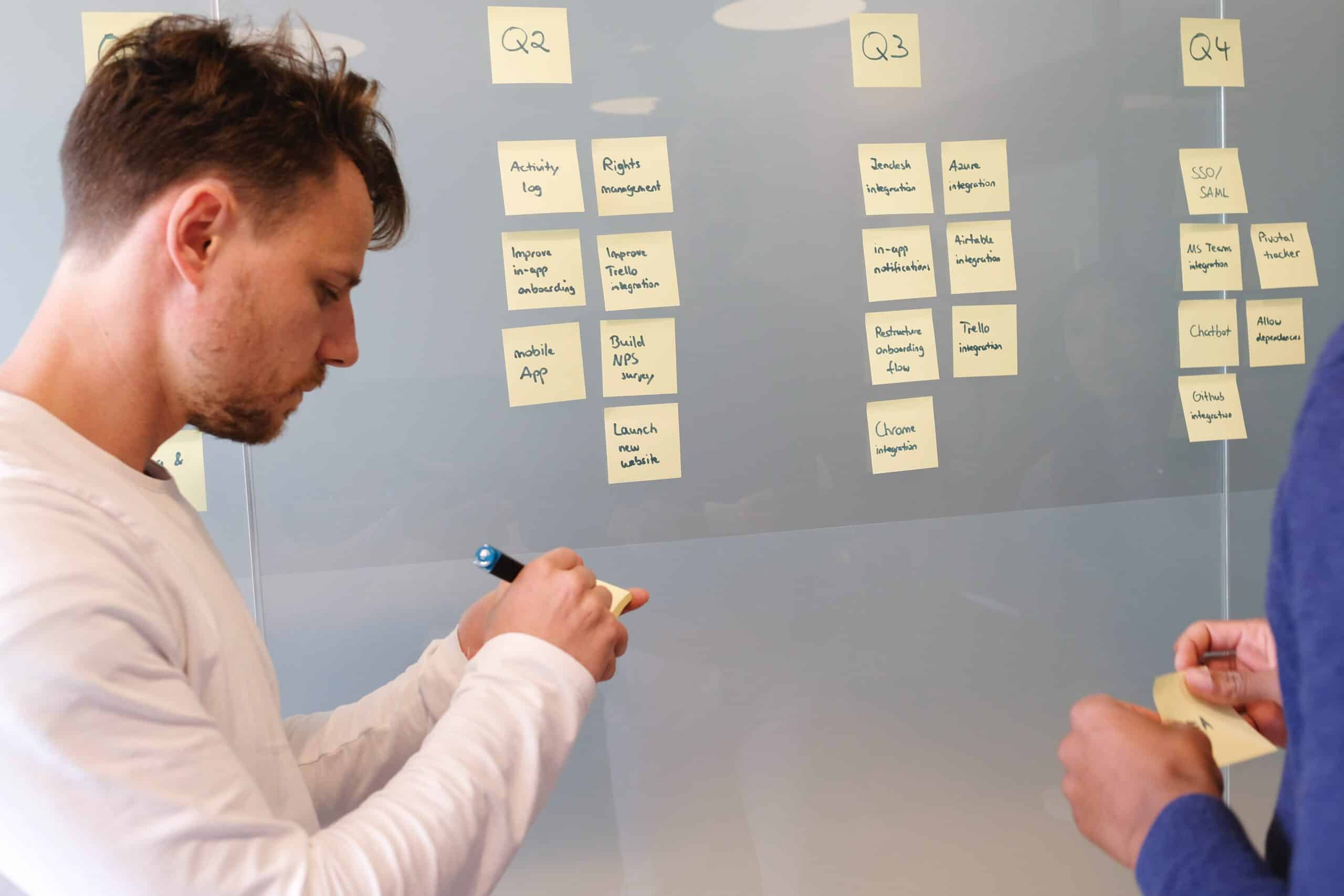 employee developing a communications plan